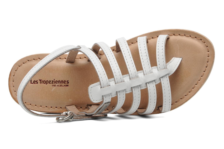 Sandales et nu-pieds Les Tropéziennes par M Belarbi Herisson E Blanc vue gauche