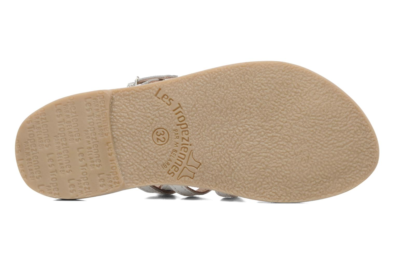 Sandales et nu-pieds Les Tropéziennes par M Belarbi Herisson E Blanc vue haut