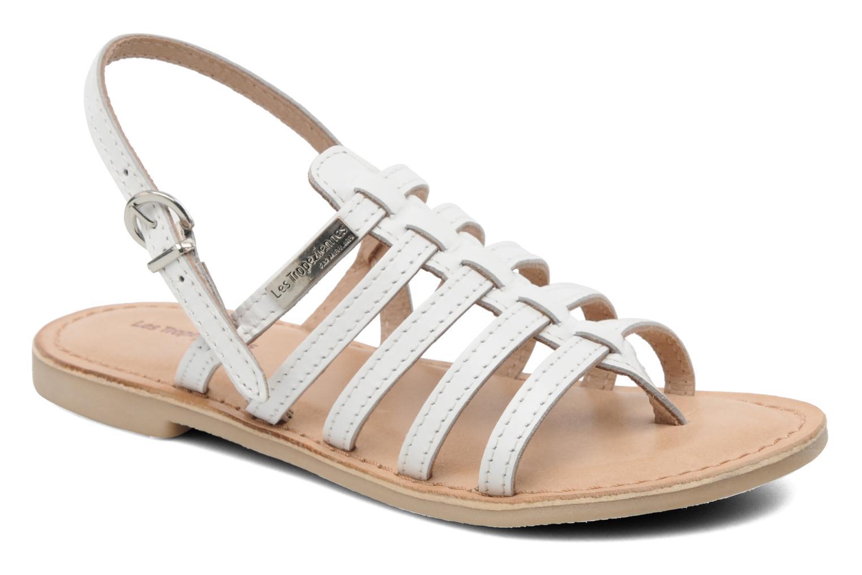 Sandales et nu-pieds Les Tropéziennes par M Belarbi Herisson E Blanc vue détail/paire