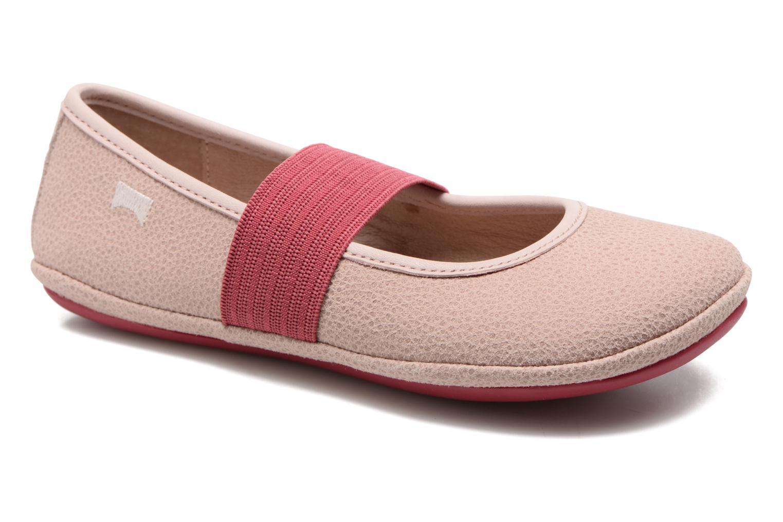 Ballerinaer Camper Right 80025 Pink detaljeret billede af skoene