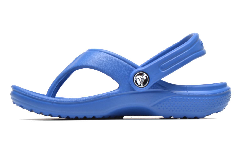Tongs Crocs Baya Summer Flip Kids Bleu vue face