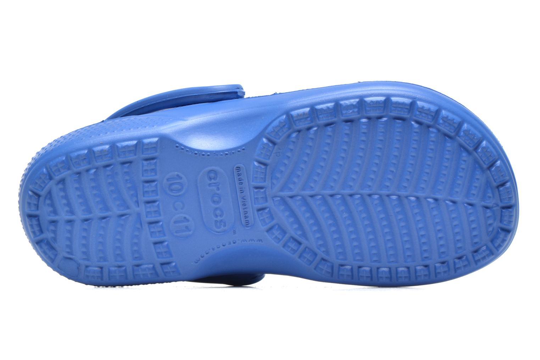 Tongs Crocs Baya Summer Flip Kids Bleu vue haut