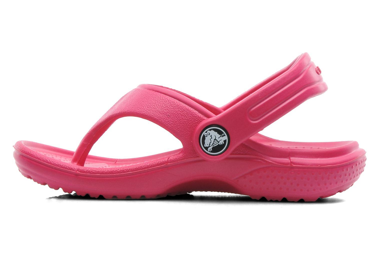 Tongs Crocs Baya Summer Flip Kids Rose vue face