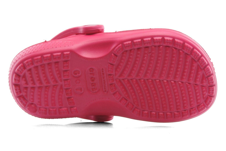 Tongs Crocs Baya Summer Flip Kids Rose vue haut