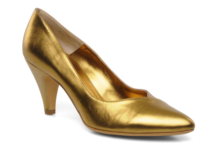 Høje hæle Atelier Mercadal Escarpin Vintage Vava Guld og bronze detaljeret billede af skoene