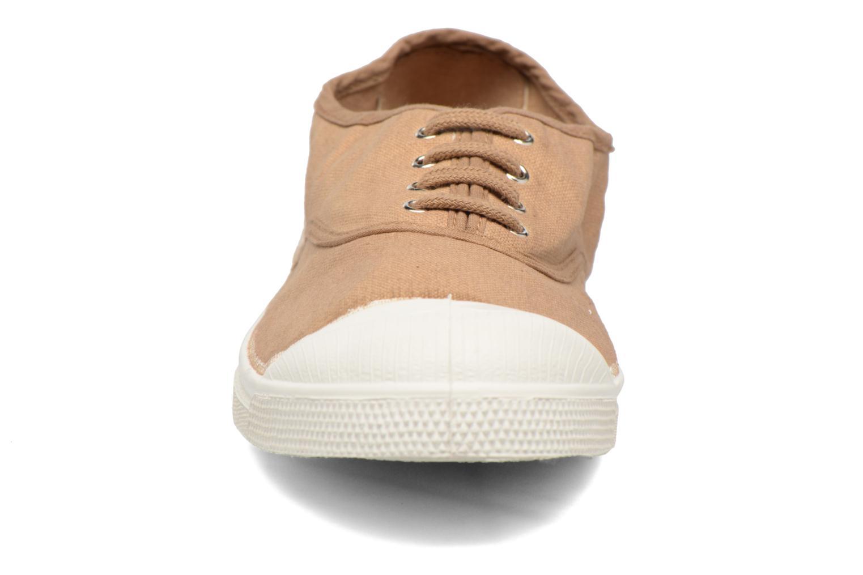 Baskets Bensimon Tennis Lacets Beige vue portées chaussures