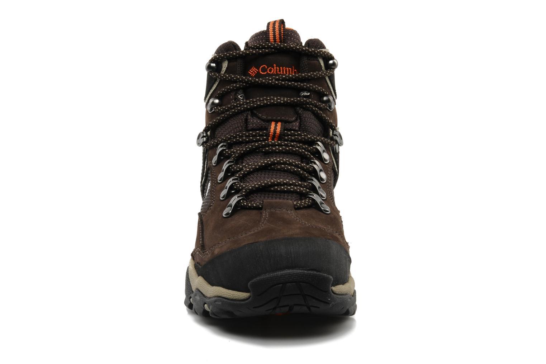 Chaussures de sport Columbia Pole creek omni-tech Marron vue portées chaussures