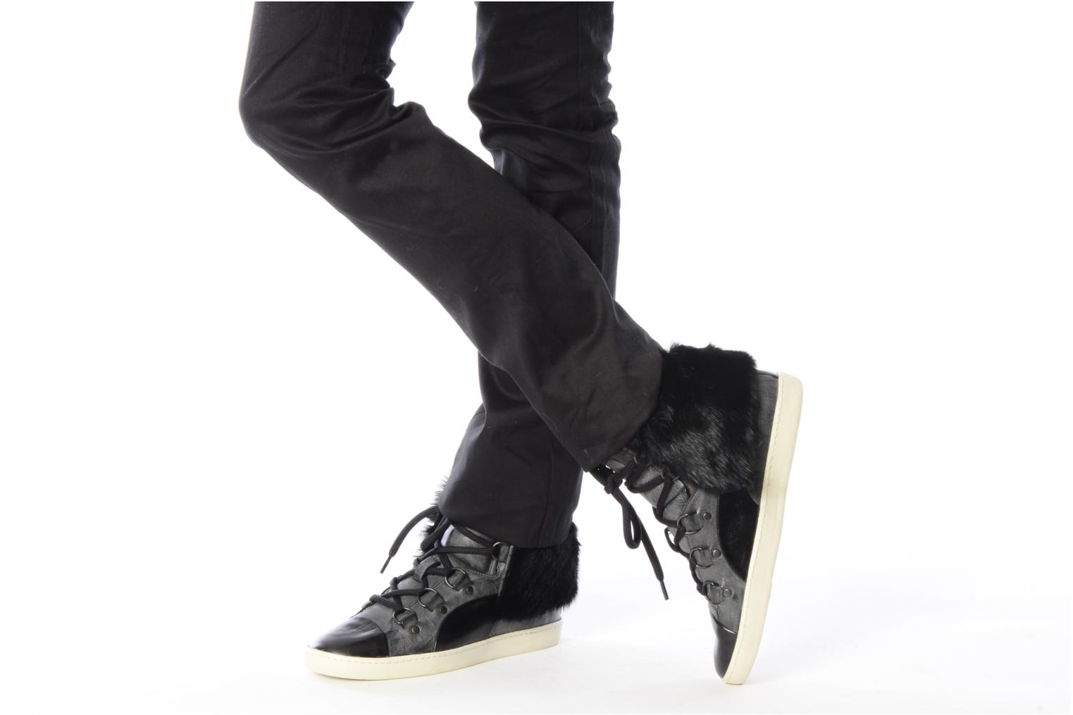 Trainers Puma by Alexander Mc Queen W's amq bound mid Black view from underneath / model view