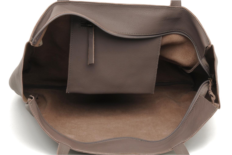 Handbags Petite mendigote QUEEN VICTORIA CABAS Grey back view