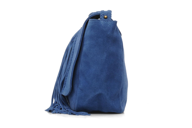 Borse Petite mendigote FRANGE ATLAS Azzurro modello indossato