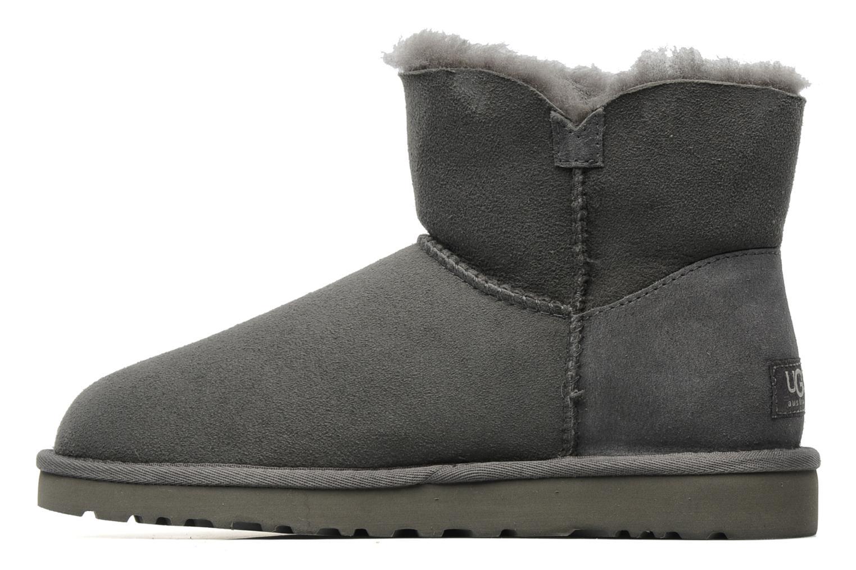 Boots en enkellaarsjes UGG Mini bailey button Grijs voorkant