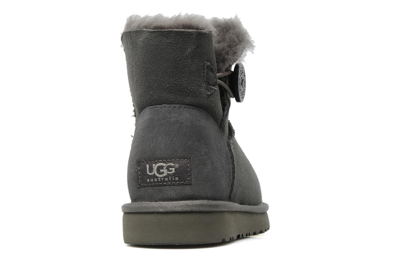 Bottines et boots UGG Mini bailey button Gris vue droite