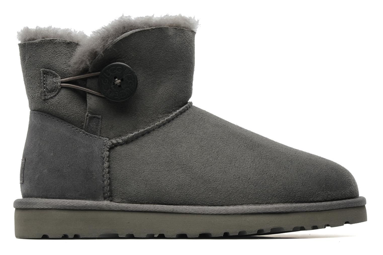 Boots en enkellaarsjes UGG Mini bailey button Grijs achterkant