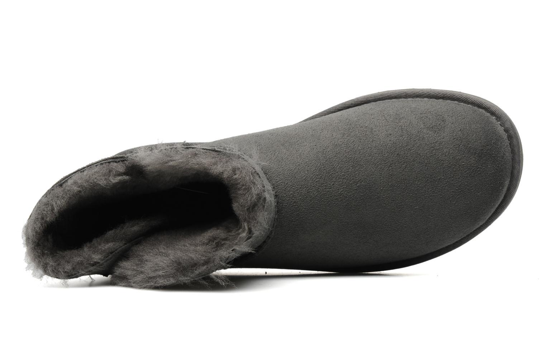 Bottines et boots UGG Mini bailey button Gris vue gauche