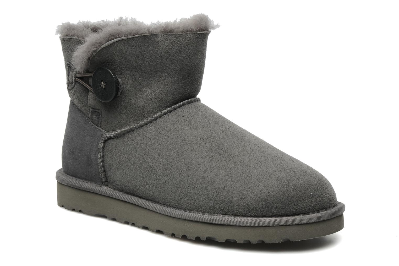 Bottines et boots UGG Mini bailey button Gris vue détail/paire