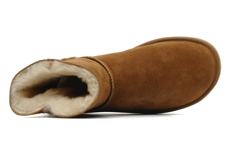 Bottines et boots UGG Mini bailey button Marron vue gauche