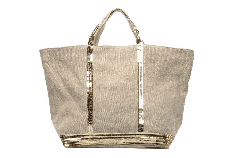 Handtaschen Vanessa Bruno Cabas Lin paillettes XL beige detaillierte ansicht/modell