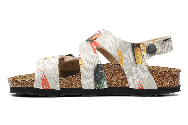 Sandales et nu-pieds Birki's Martinique Flor E Gris vue face
