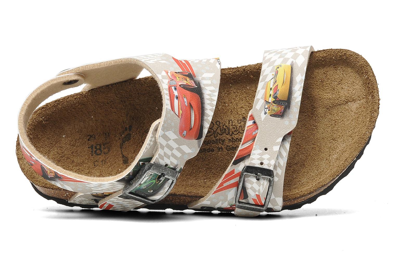 Sandales et nu-pieds Birki's Martinique Flor E Gris vue gauche
