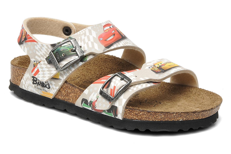 Sandales et nu-pieds Birki's Martinique Flor E Gris vue détail/paire