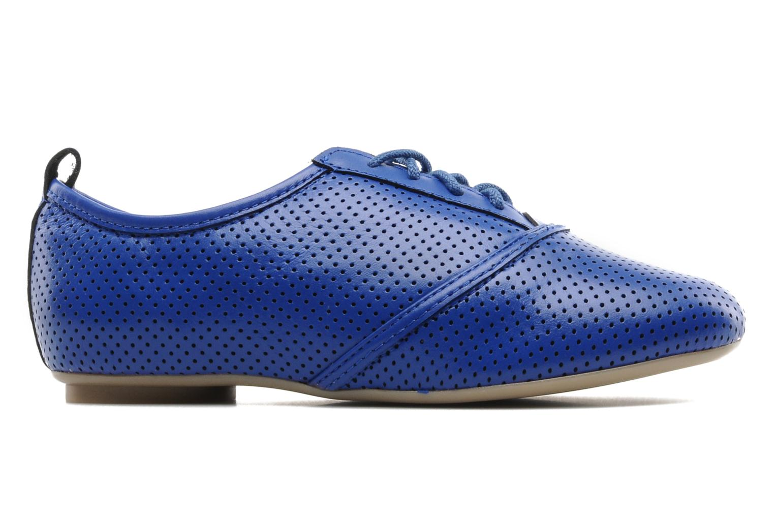 Lace-up shoes Mellow Yellow Lilas Blue back view