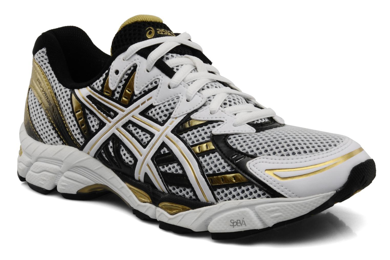 Chaussures de sport Asics Gel Virage 6 Blanc vue détail/paire