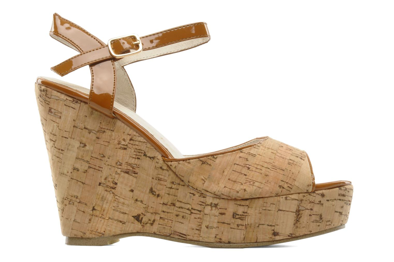 Sandales et nu-pieds Georgia Rose Flica Marron vue derrière