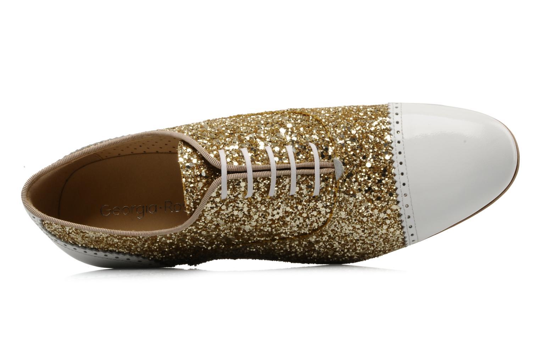 Chaussures à lacets Georgia Rose Pantika Or et bronze vue gauche
