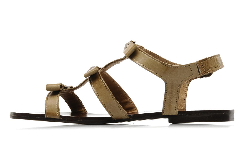 Sandales et nu-pieds Addict-Initial Adene Beige vue face