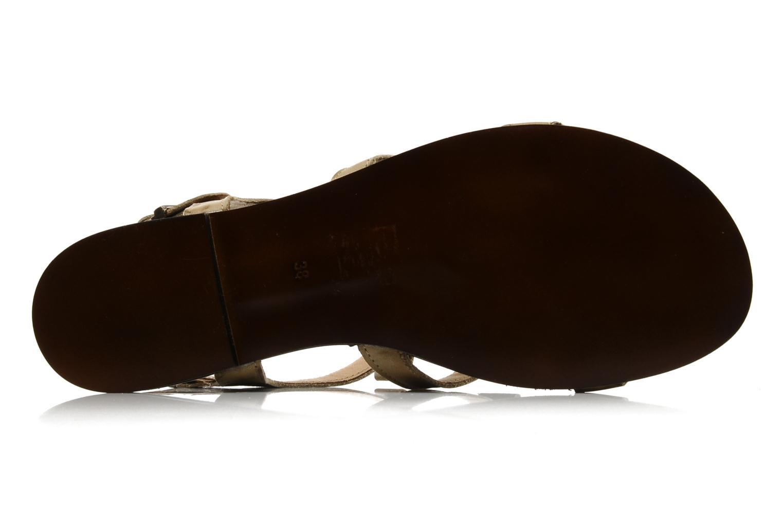 Sandales et nu-pieds Addict-Initial Adene Beige vue haut