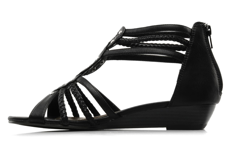 Sandales et nu-pieds I Love Shoes Supla Noir vue face