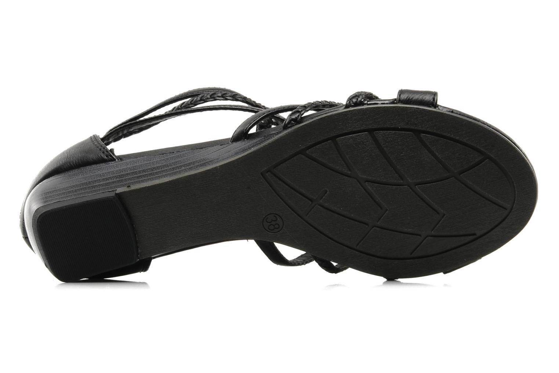 Sandales et nu-pieds I Love Shoes Supla Noir vue haut