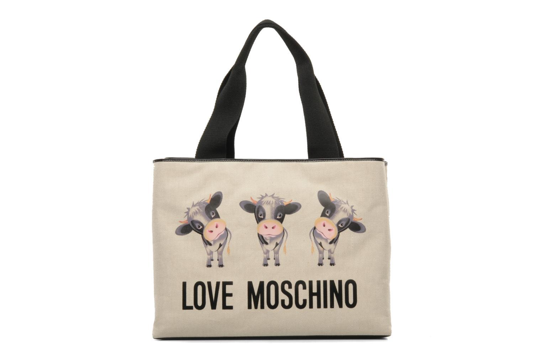 Handbags Love Moschino MOOOU BAG CABAS Beige front view