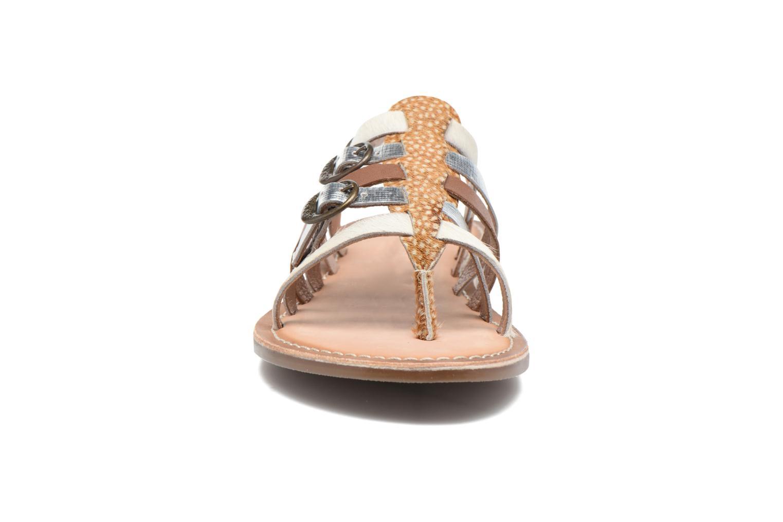 Sandales et nu-pieds Kickers Dixmille Marron vue portées chaussures