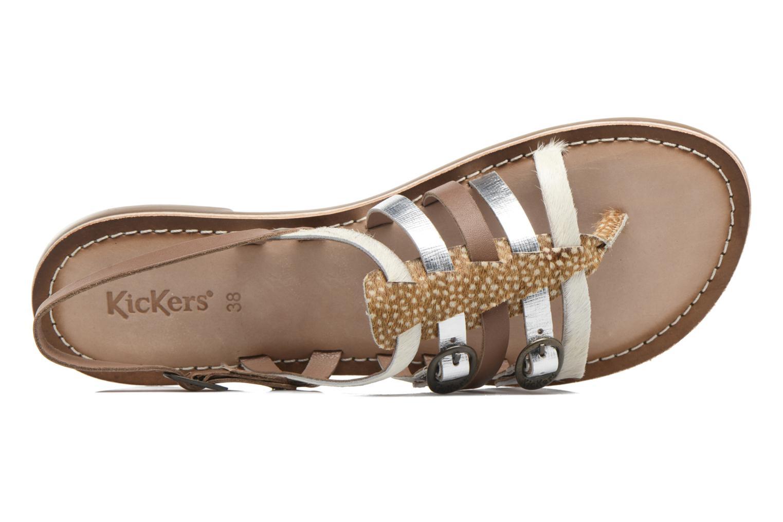 Sandales et nu-pieds Kickers Dixmille Marron vue gauche