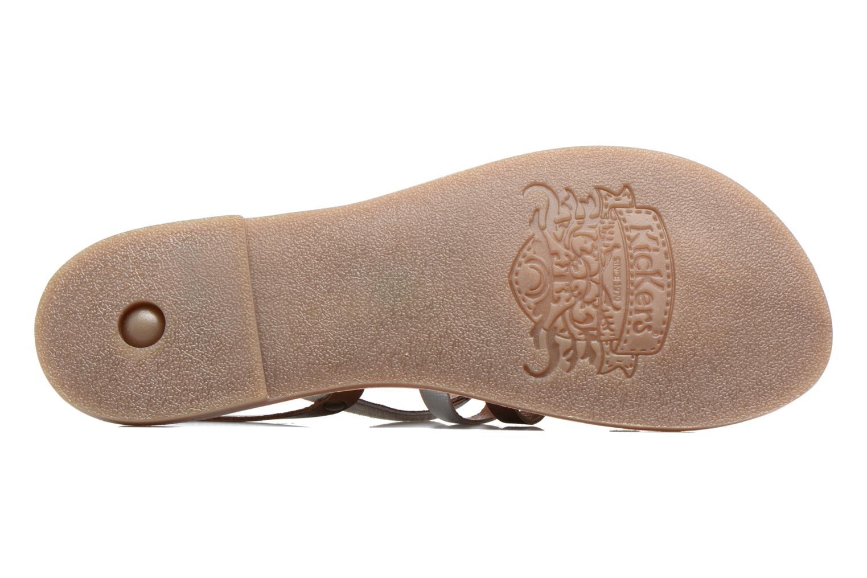 Sandales et nu-pieds Kickers Dixmille Marron vue haut