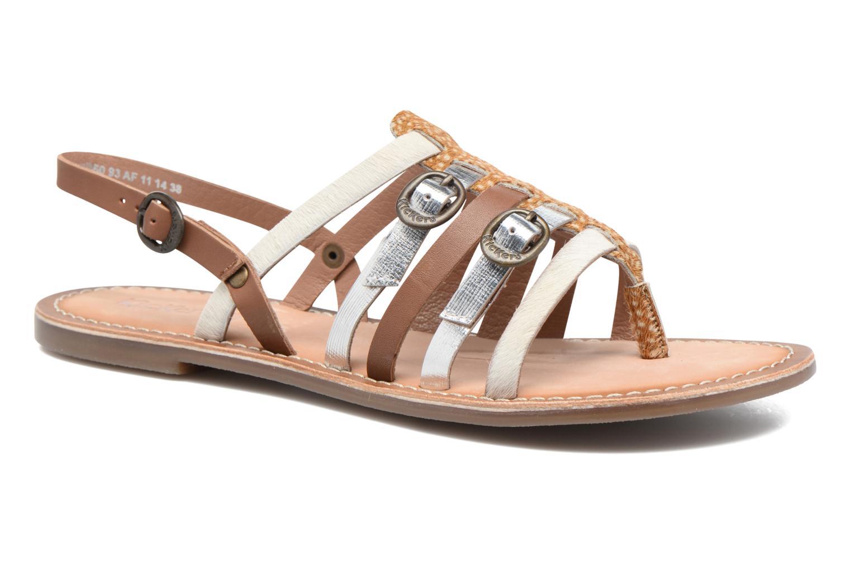 Sandales et nu-pieds Kickers Dixmille Marron vue détail/paire