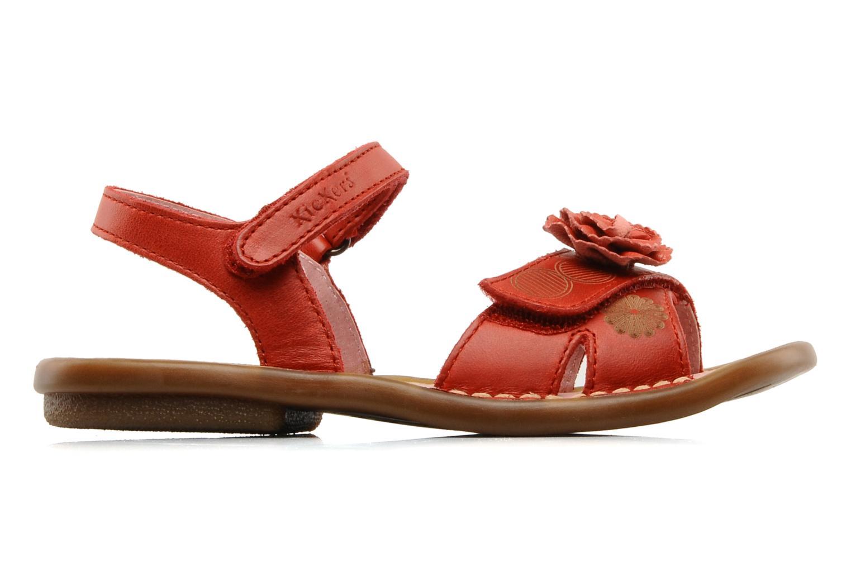 Sandalen Kickers MARJO Rood achterkant