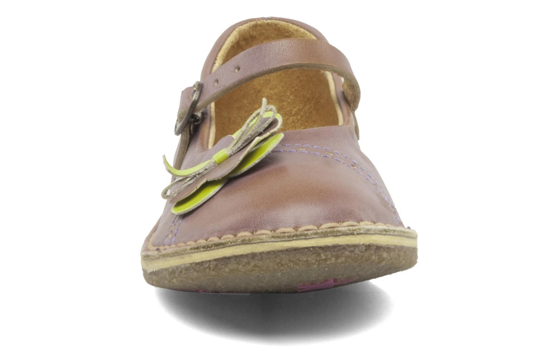Ballerines Kickers FANFRELUCHE Violet vue portées chaussures