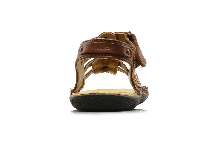 Sandales et nu-pieds Kickers PEPITO V Marron vue droite