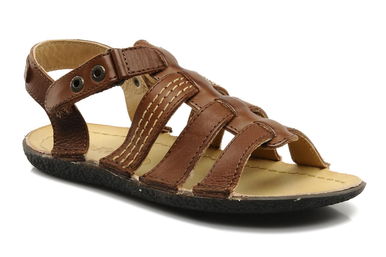 Sandales et nu-pieds Kickers PEPITO V Marron vue détail/paire