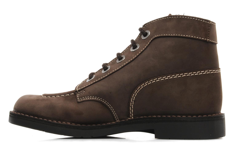 Chaussures à lacets Kickers Kick Col Perm Marron vue face