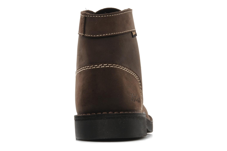 Chaussures à lacets Kickers Kick Col Perm Marron vue droite
