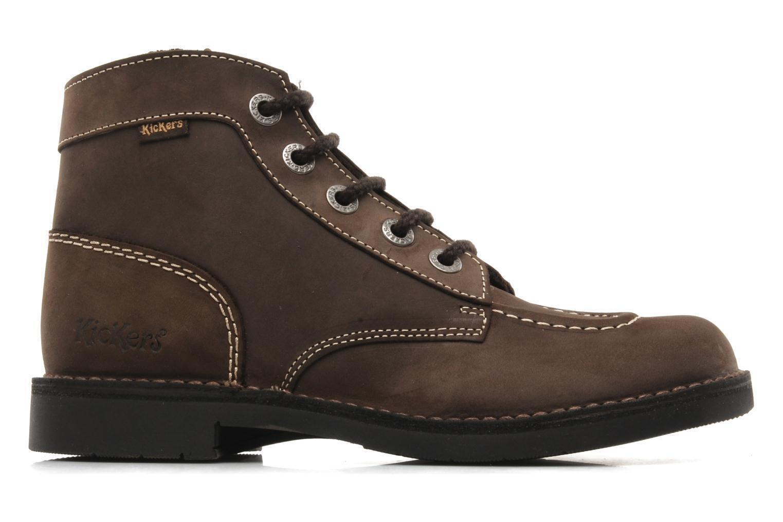 Chaussures à lacets Kickers Kick Col Perm Marron vue derrière