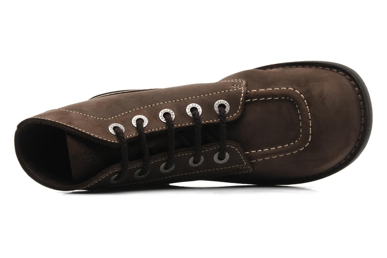 Chaussures à lacets Kickers Kick Col Perm Marron vue gauche