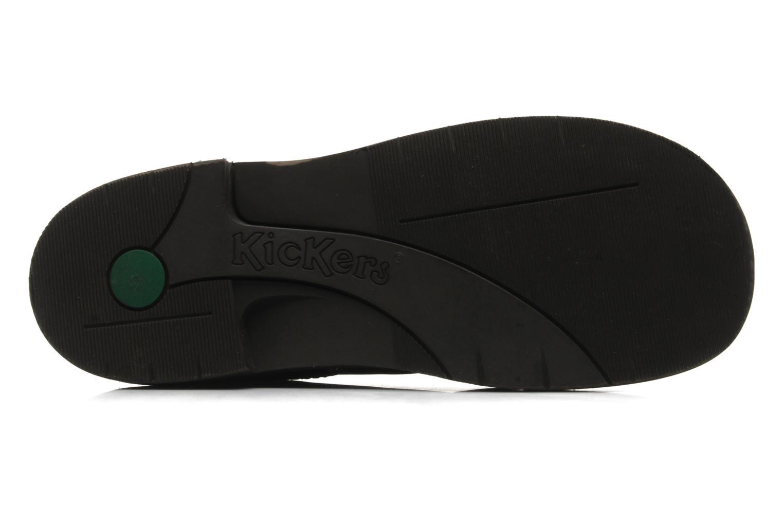 Chaussures à lacets Kickers Kick Col Perm Marron vue haut