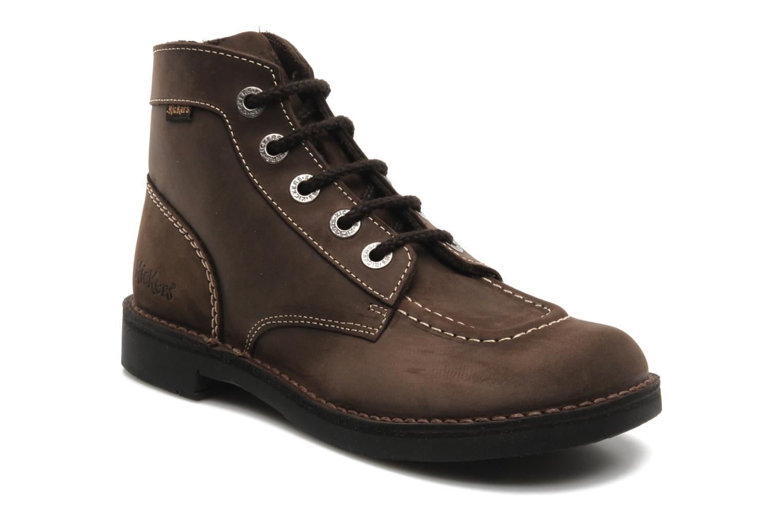 Chaussures à lacets Kickers Kick Col Perm Marron vue détail/paire
