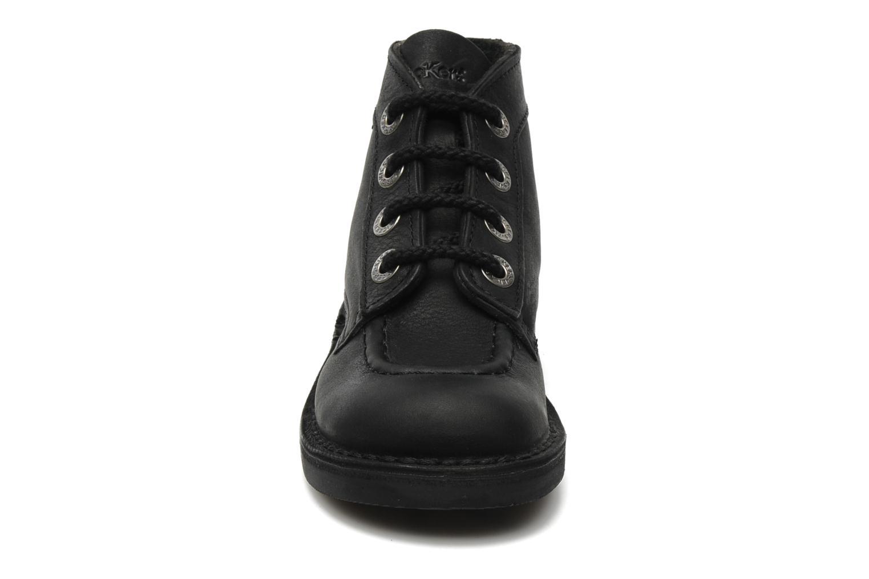 Chaussures à lacets Kickers Kick Col Perm Noir vue portées chaussures