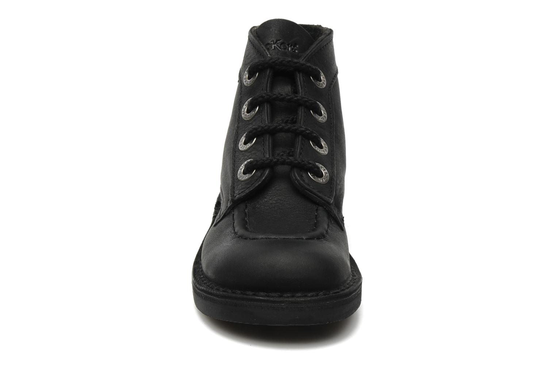Schnürschuhe Kickers Kick Col Perm schwarz schuhe getragen