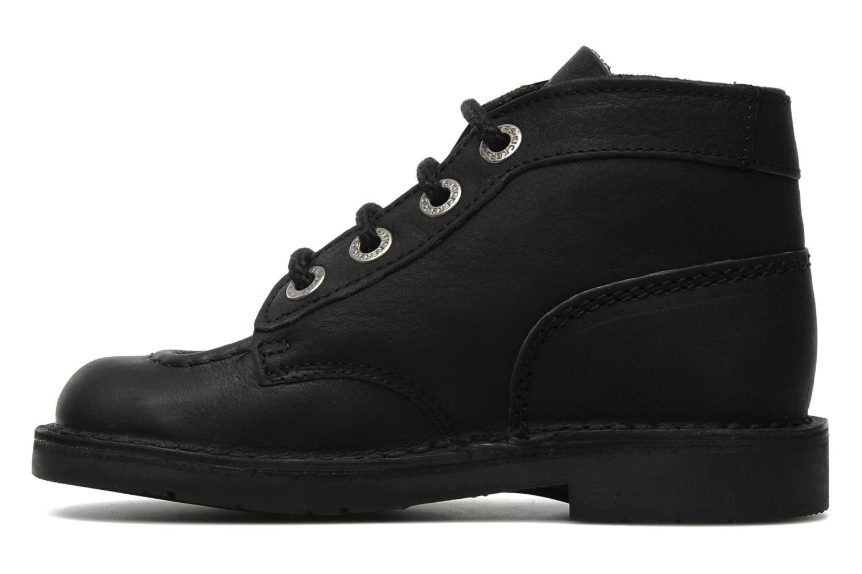 Chaussures à lacets Kickers Kick Col Perm Noir vue face